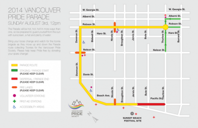 2014 Pride Parade Route announced