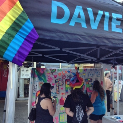 "@westendbia: ""Davie is bumping for tonight's @vancouverpride Block party! Even"